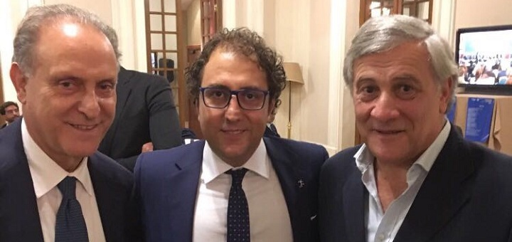 Cesa Di Folco e Tajani a Fiuggi nel 2017